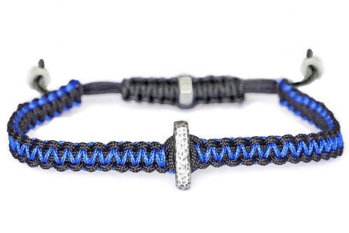 Bracelet réversible en macramé et argent plaqué  - Modèle MAX