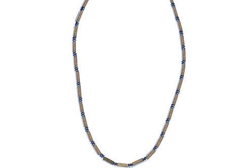 Collier hématite et pyrite - modèle LORIS