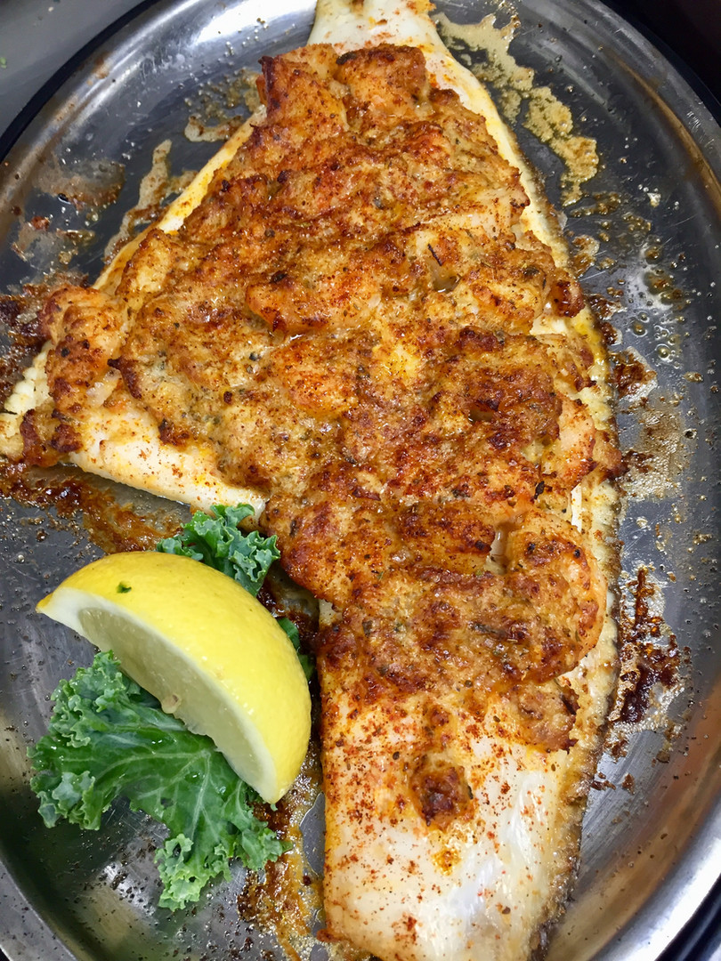 Smothered Flounder