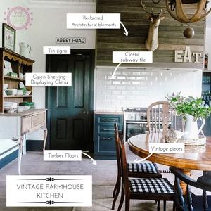 11 Tips to Create a Vintage Farmhouse Kitchen