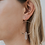 Thumbnail: Clear Quartz Hoop Earrings