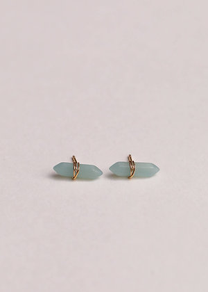 Amazonite Mineral Point Earrings