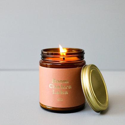 Mantra Candle - Boom Chakra Laka