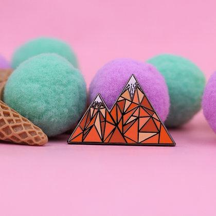 Geometric Mountain – Colorado / Mountain Life Enamel Pin