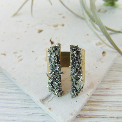 Pyrite Mineral Ring