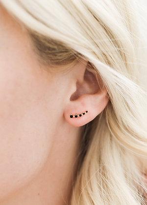 Black Crawler Earrings