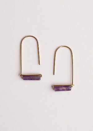 Amethyst Gemstone Drop Earrings