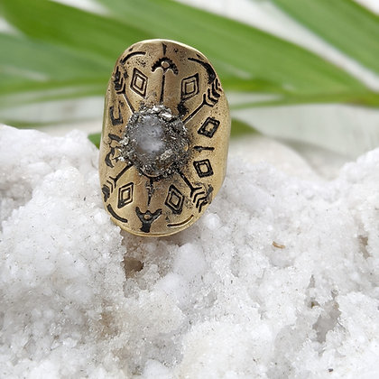 Boho Adjustable Ring Ring Moonstone Moonstone Ring Raw Stone