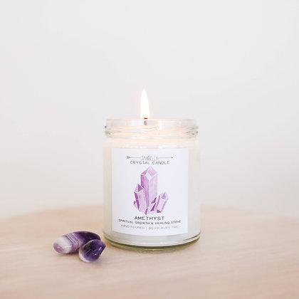 Amethyst Crystal Candle