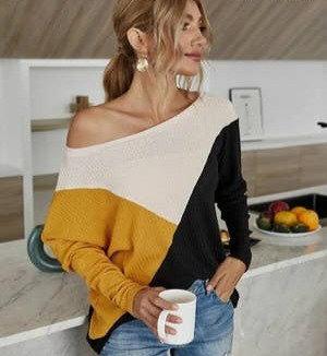 Tri Colored Sweater