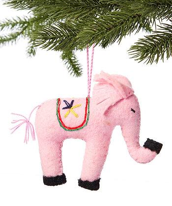 Pink Elephant Ornament