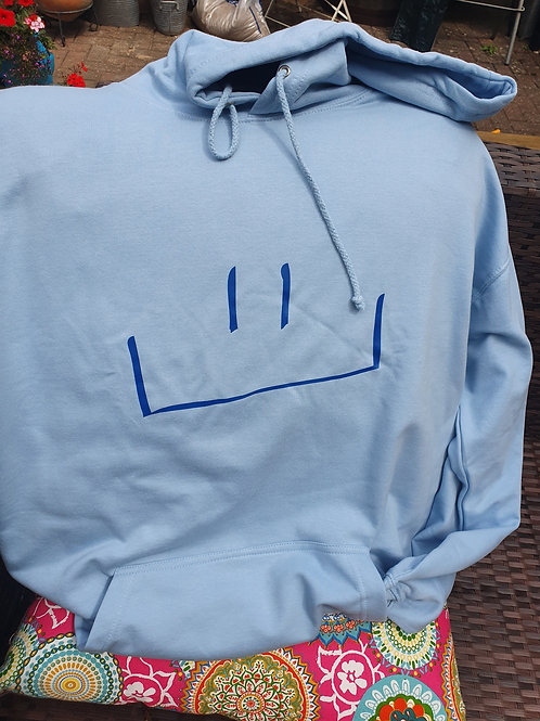 MHF Hooded Sweatshirt Sky Blue -Adult size 2XL