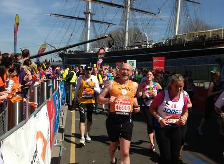 Alan is running the marathon