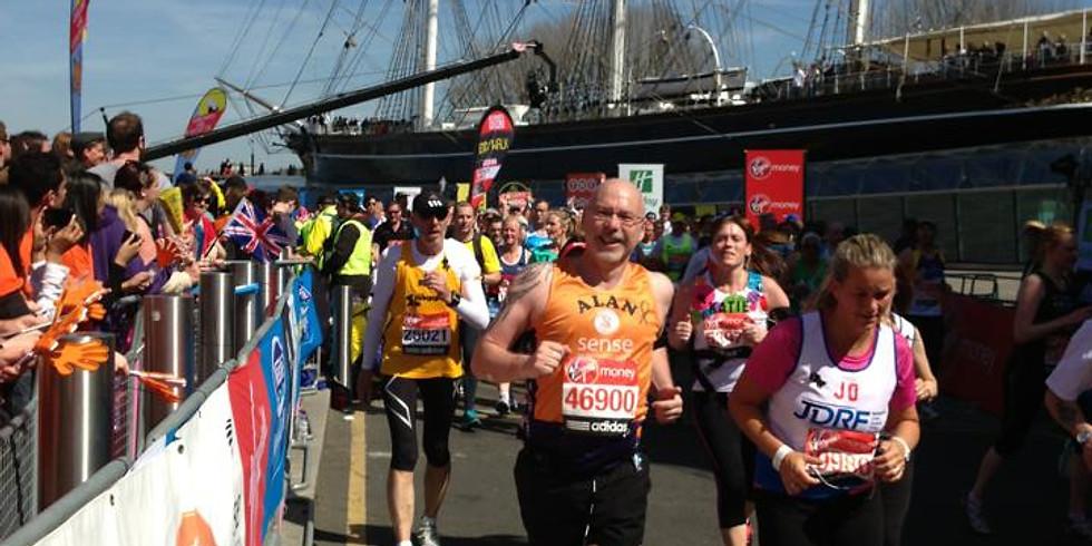 Alan Coyne Runs the London Marathon