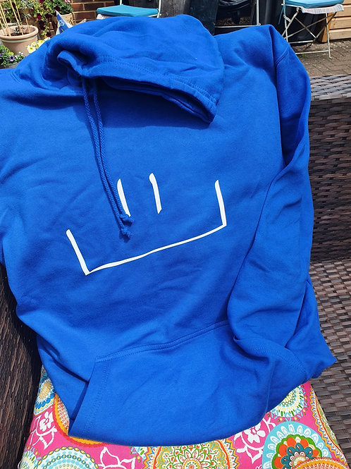 MHF Hooded Sweatshirt Royal Blue -Adult size XXL