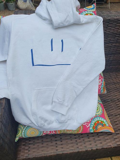 MHF Hooded Sweatshirt white -Aged 12/13