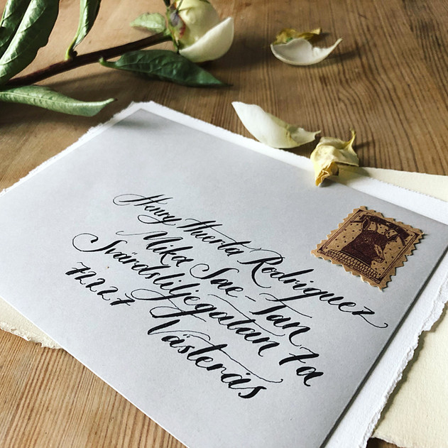 Handskrivet kuvert