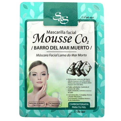 Mascarilla Facial Mousse CO2 Barro del Mar Muerto 13ml