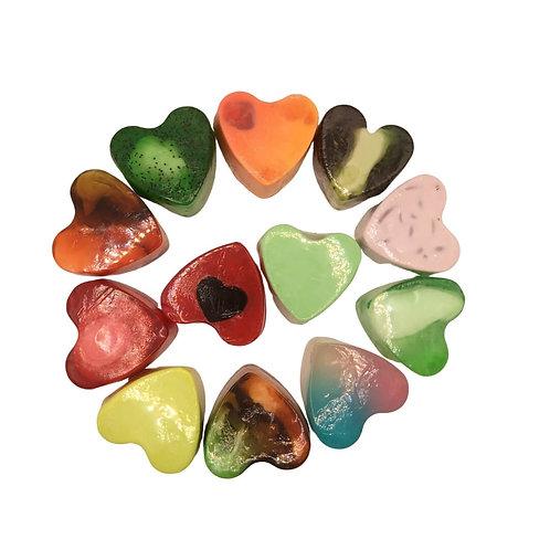 Jabones en forma de Corazón 85gr
