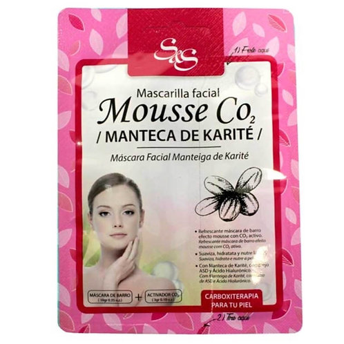 Mascarilla Facial Mousse CO2 Manteca de Karité  13ml