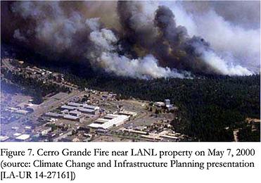 Cerro Grande fire on May 7, 2000 Santa Fe National Forest