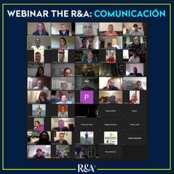 Webinar The R&A - Comunicación / Asistentes Zoom