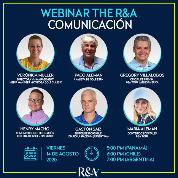 Webinar The R&A - Comunicación / Disertantes
