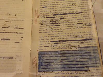 Manuscrito de Grandes Sertões Veredas, com correções e anotações.