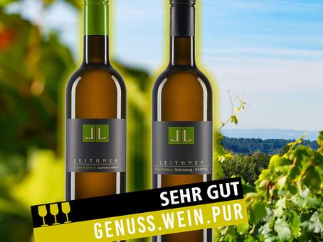 """""""Sehr gut"""" - Prämierung vom Magazin GENUSS.wein.pur"""