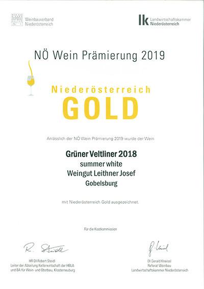 Gold Leithner Wein Gobelsburg