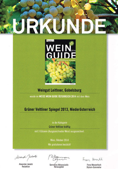 Urkunde Weinguide