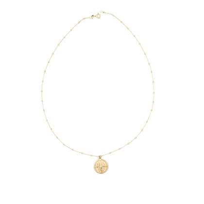 collier MEDAILLE chaine boule