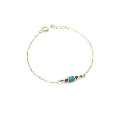 bracelet PIERRE carré turquoise