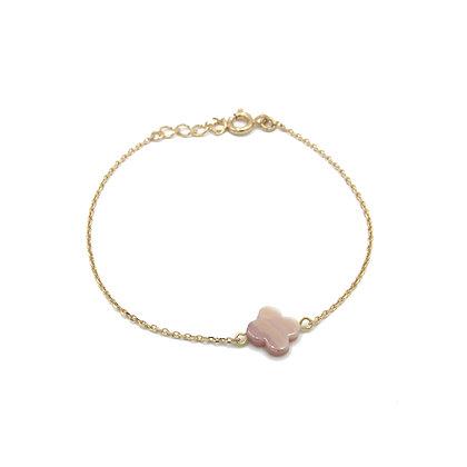 bracelet TREFLE rose
