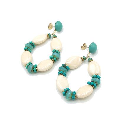 boucles MONTAGUE turquoise