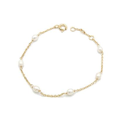 bracelet PERLA blanc ou rose