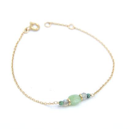 bracelet PIERRE vert pale