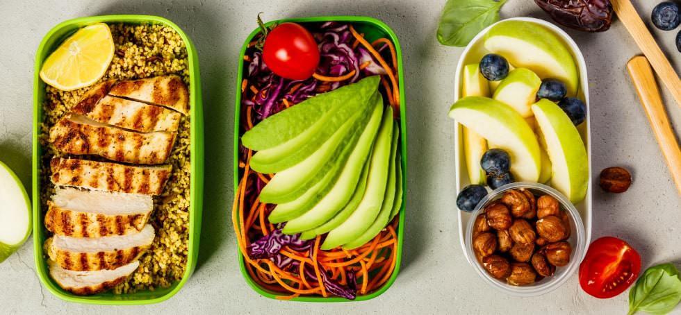 Healthy food, meal preparation.