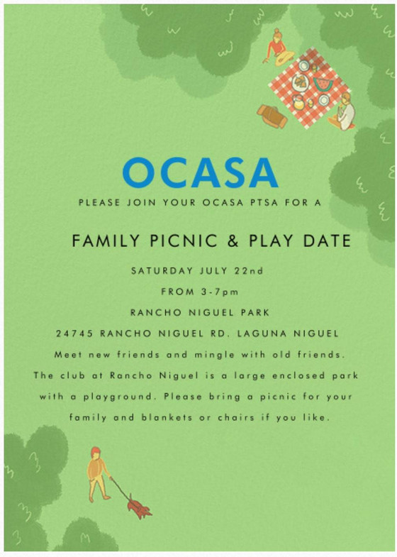 Family Picnic & Play Date