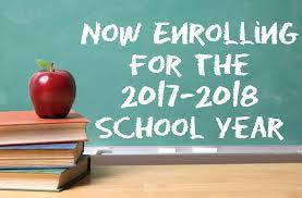 Now Enrolling for 2017-18 School Year