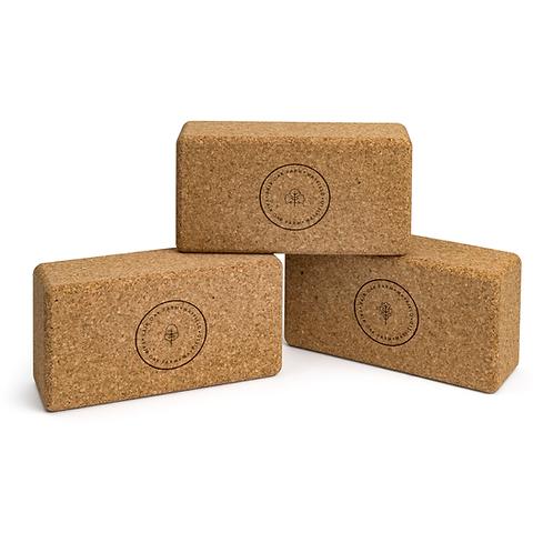 Cork Yoga Brick (Standard Size, Branded)