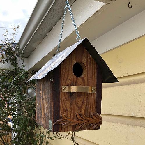 salvaged wood bird house