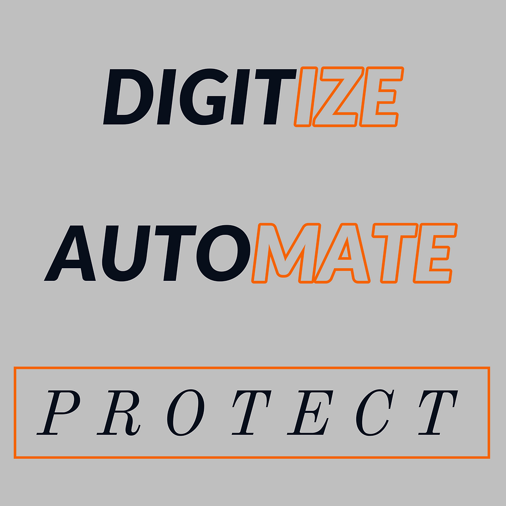 DIGITIZE, AUTOMATE, and PROTECT