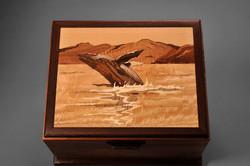 Koa Box with Humpback Whale