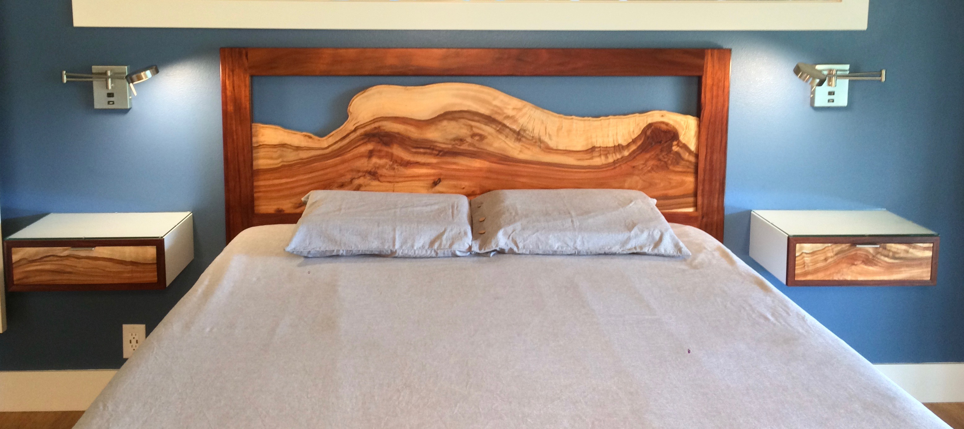 oa Headboard and Night stands