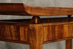 Koa and Blown Glass Entryway Table