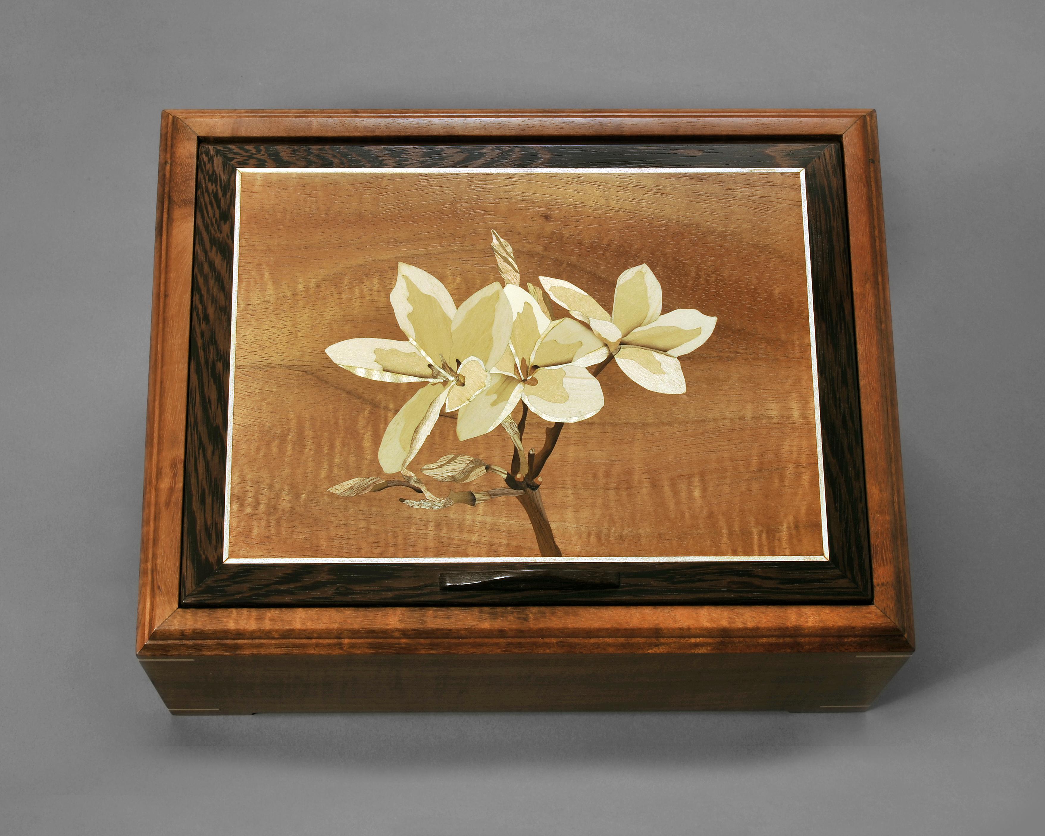 Koa Box with Plumeria
