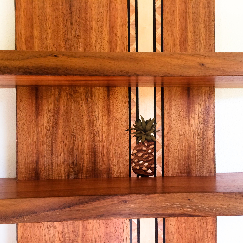 Floating Koa Pineapple Shelf