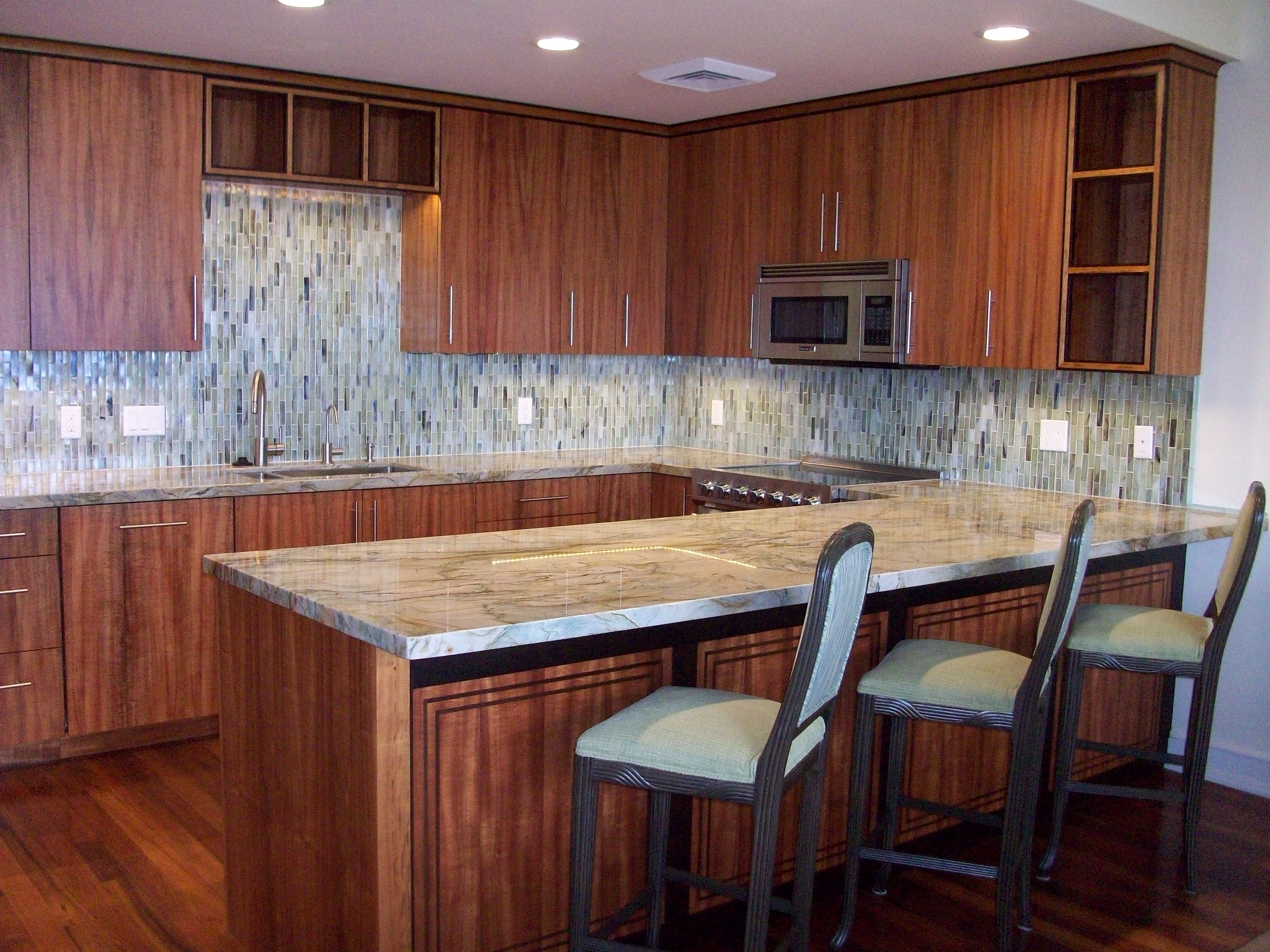 Custom Koa Kitchen