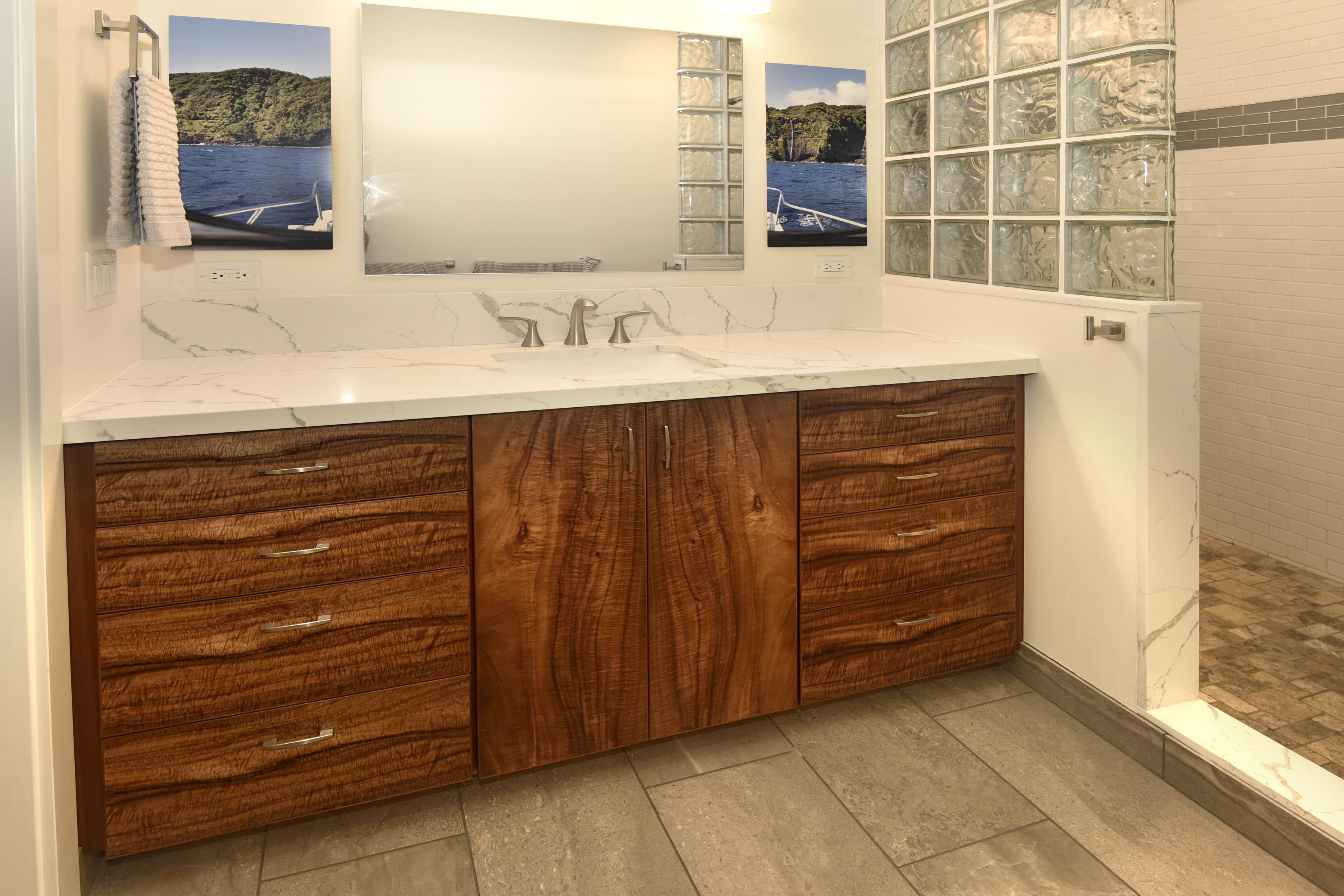 Koa Bathroom Vanity Wooden Touches